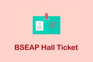 BSEAP Hall Ticket