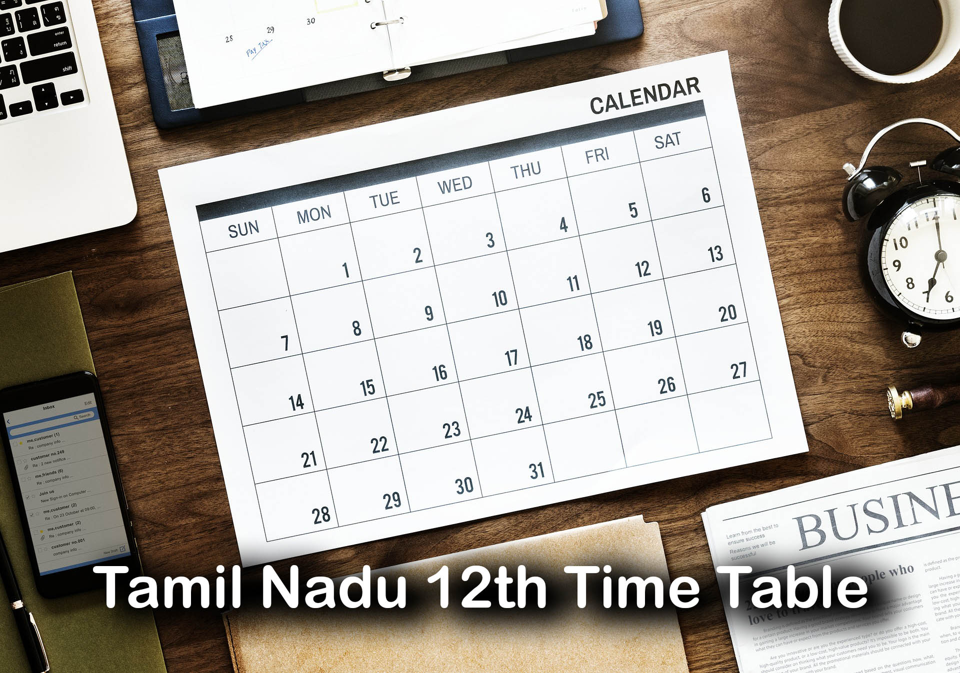 Tamil Nadu 12th Time Table 2020 : Download TN HSC Time Table PDF