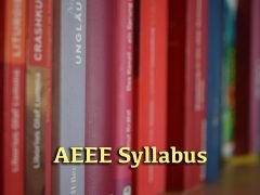 AEEE Syllabus 2020 for Mathematics, Physics and Chemistry