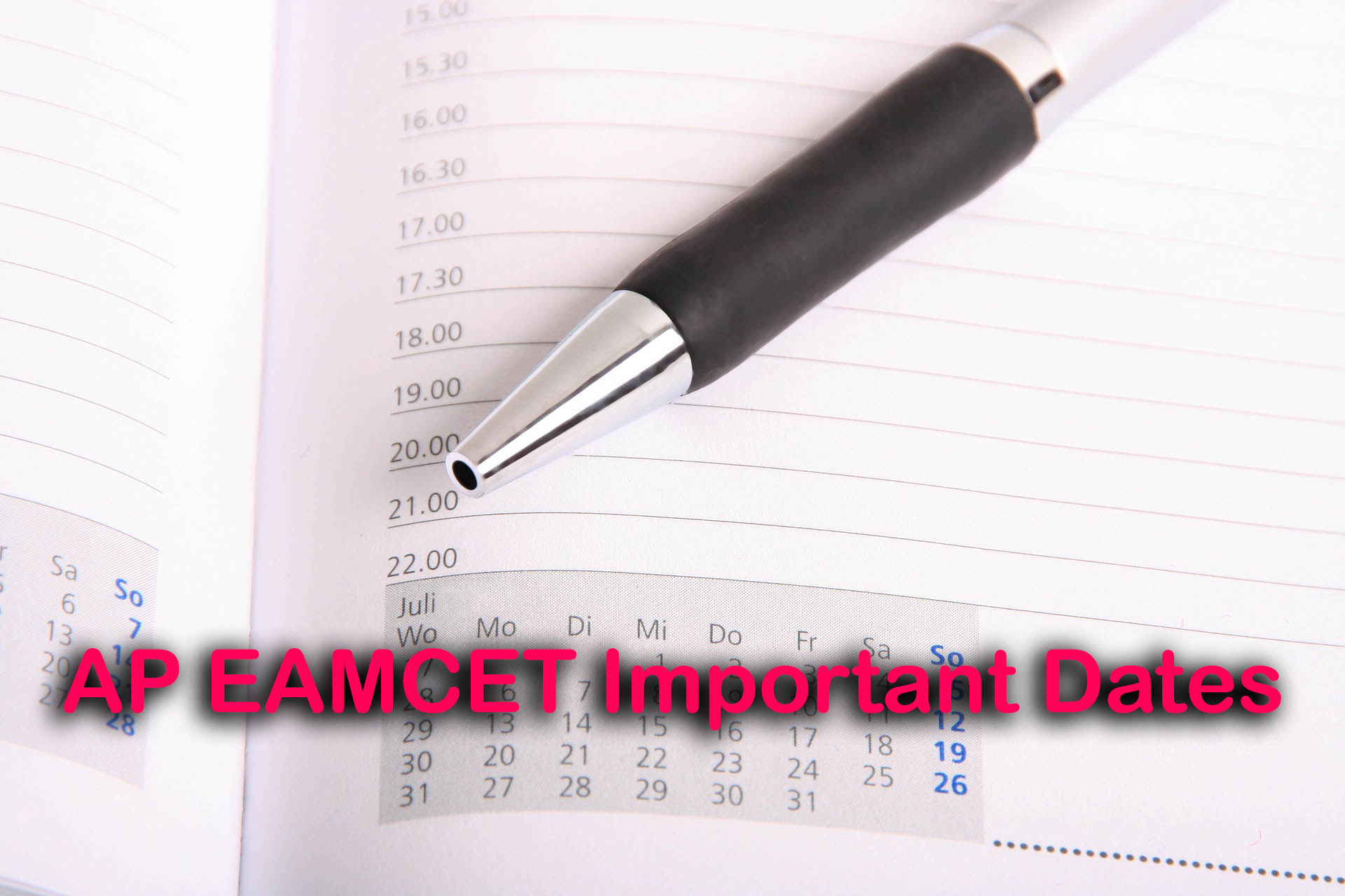 AP EAMCET Important Dates