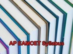 AP EAMCET 2020 Syllabus PDF for Mathematics, Physics, Chemistry, Botany and Zoology