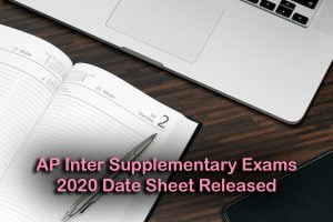 AP Inter Supplementary Exams 2020 Date Sheet Released