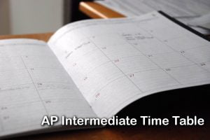 AP Intermediate Time Table