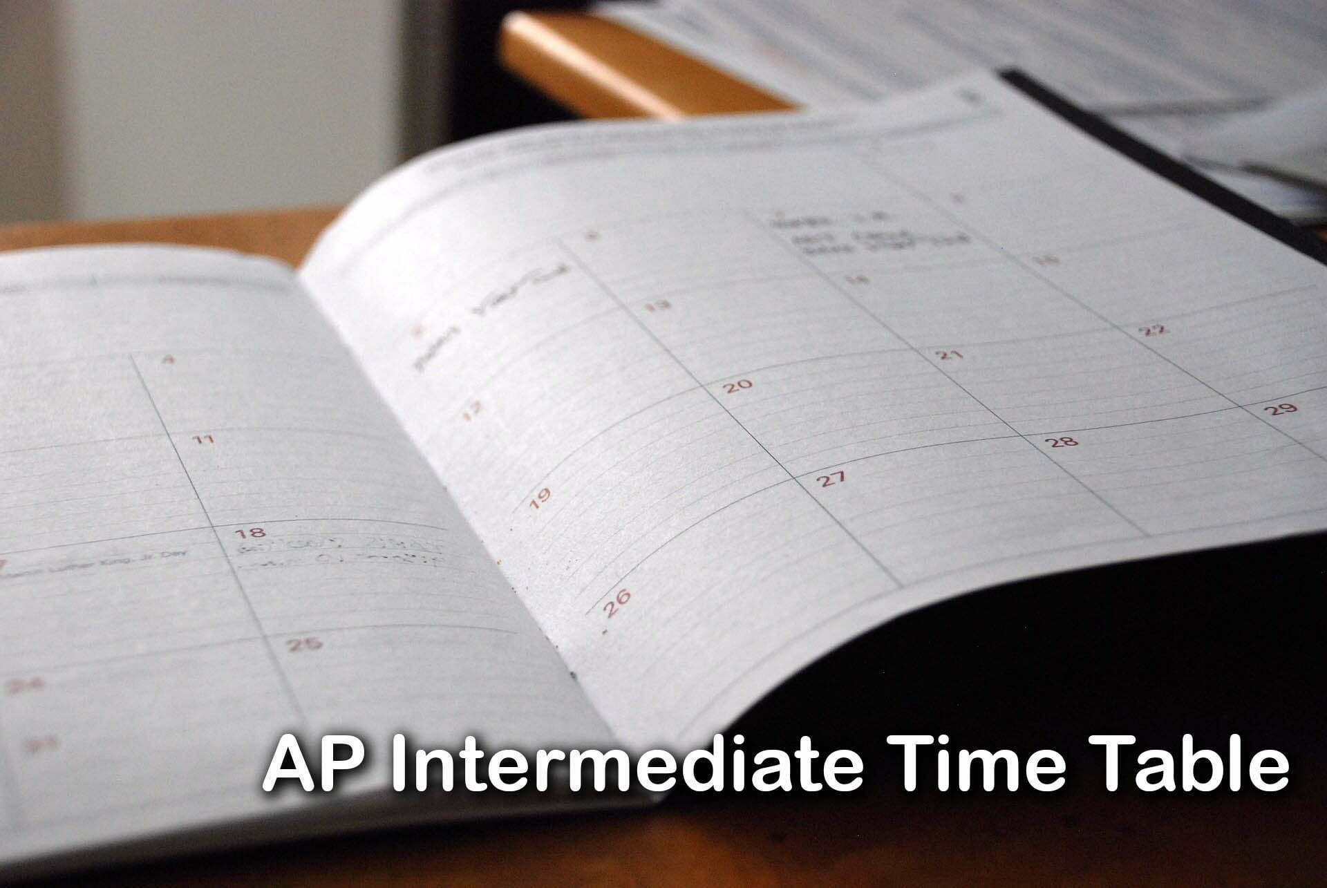 AP Intermediate Time Table 2020 : Download AP Inter 1st & 2nd Year Time Table