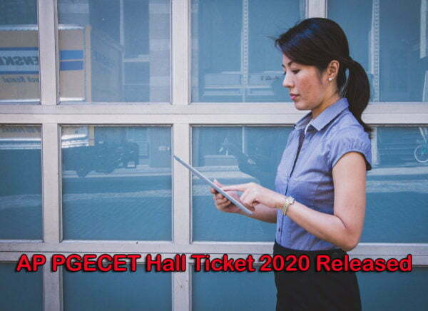 AP PGECET Hall Ticket 2020 Released