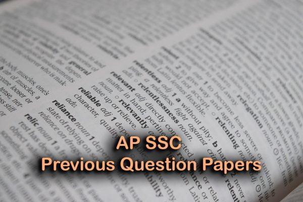 AP SSC Previous Question Papers