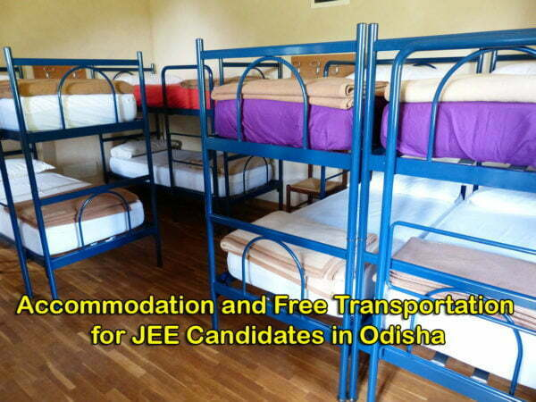 Accommodation and Free Transportation for JEE Candidates