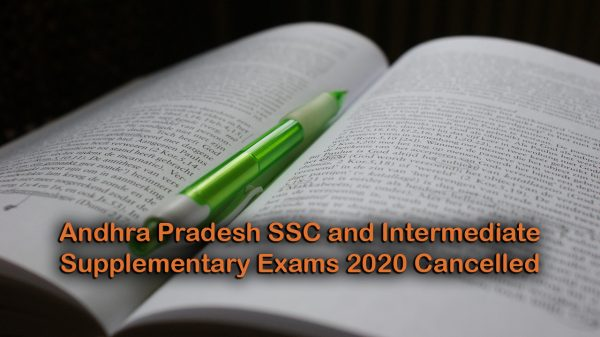 Andhra Pradesh SSC and Intermediate Supplementary Exams 2020 Cancelled