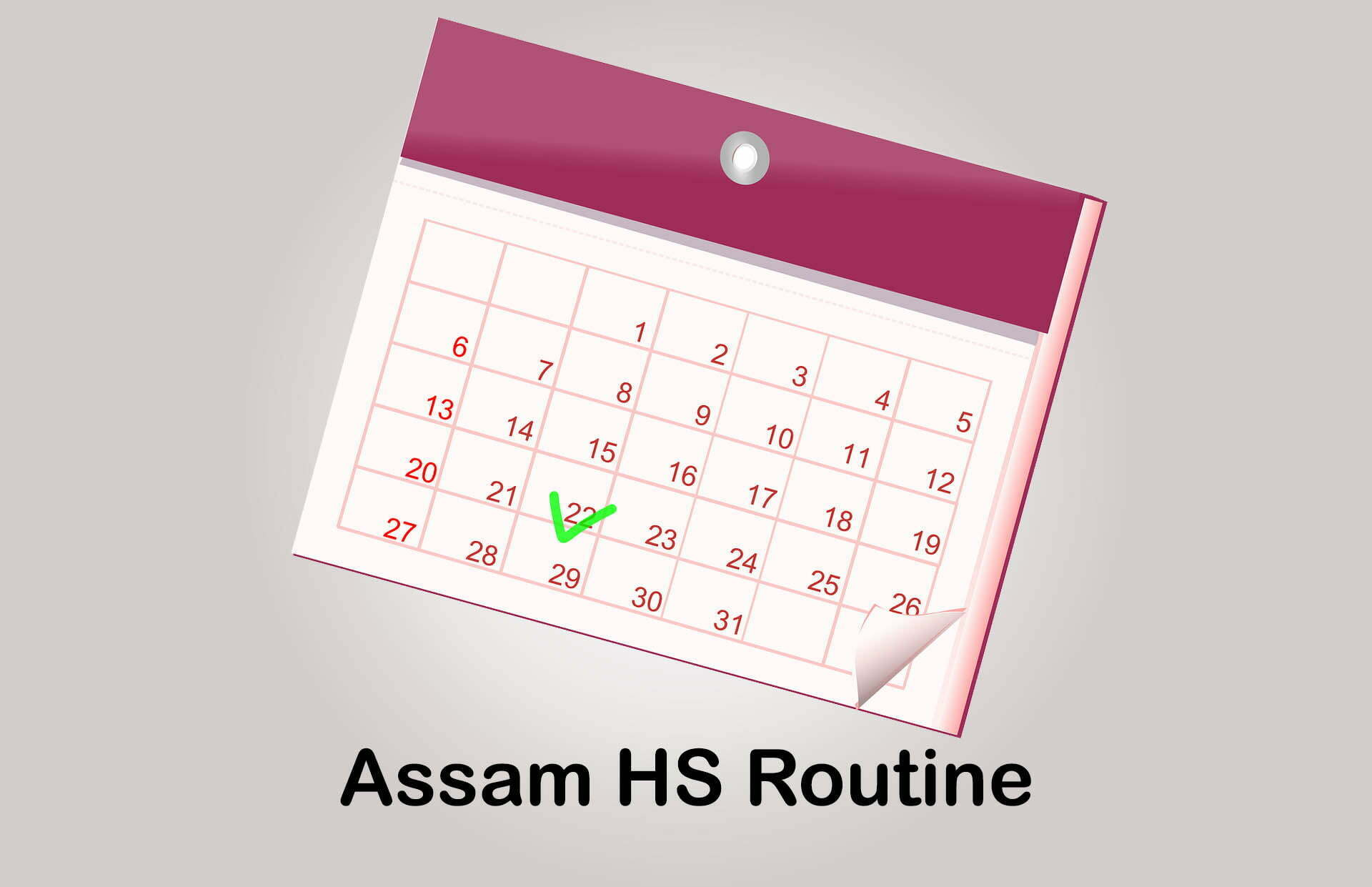 Assam HS Routine 2020 : Download Assam HS 1st & 2nd Year Routine 2020 PDF