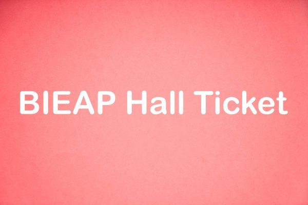 BIEAP Hall Ticket