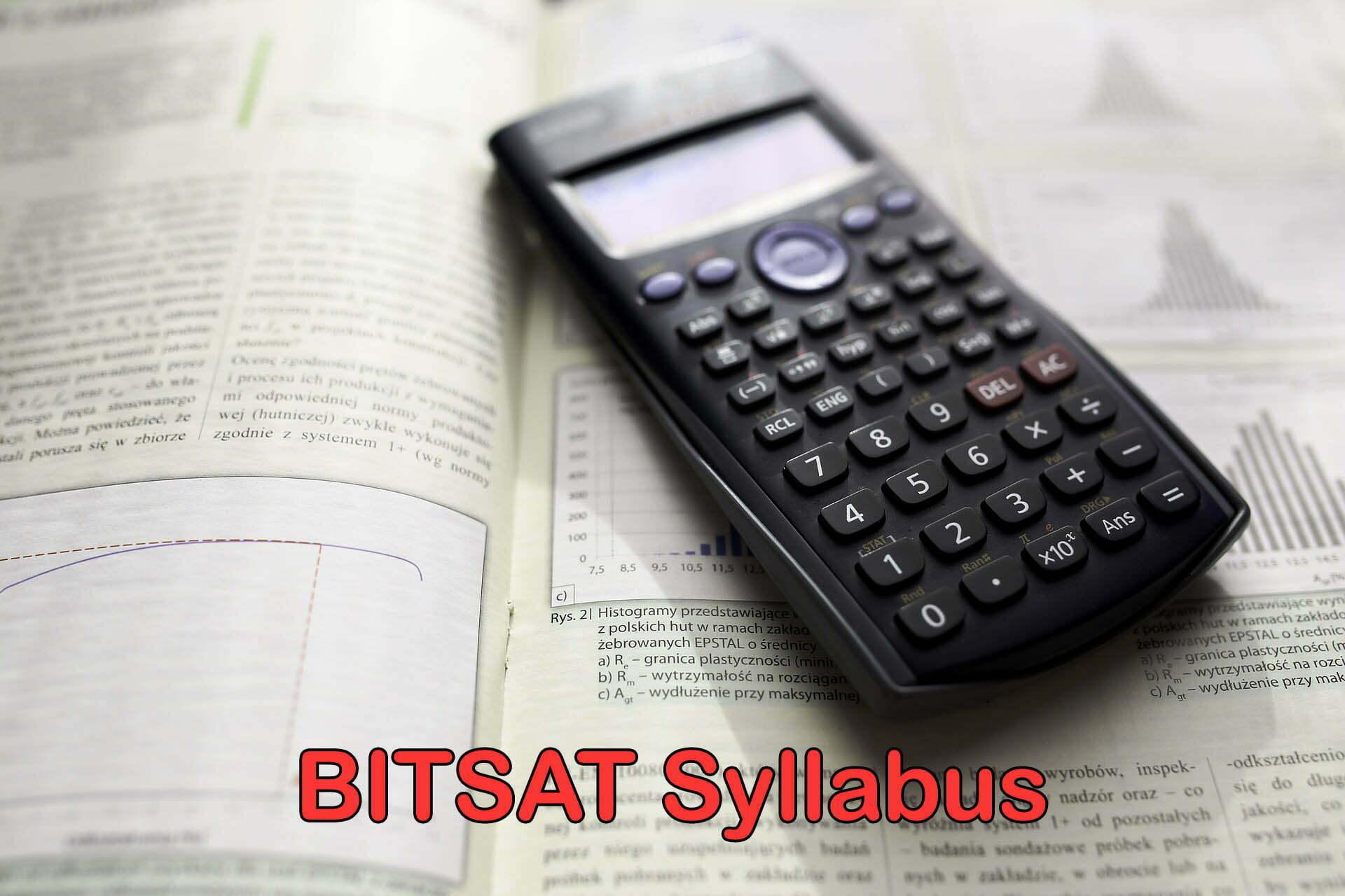 BITSAT Syllabus