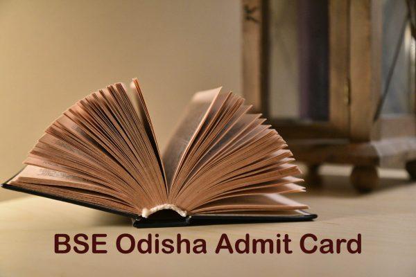 BSE Odisha Admit Card