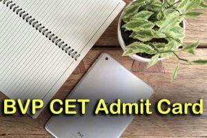 BVP CET Admit Card