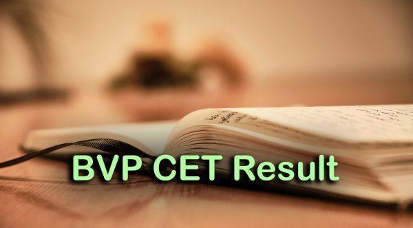 BVP CET Result