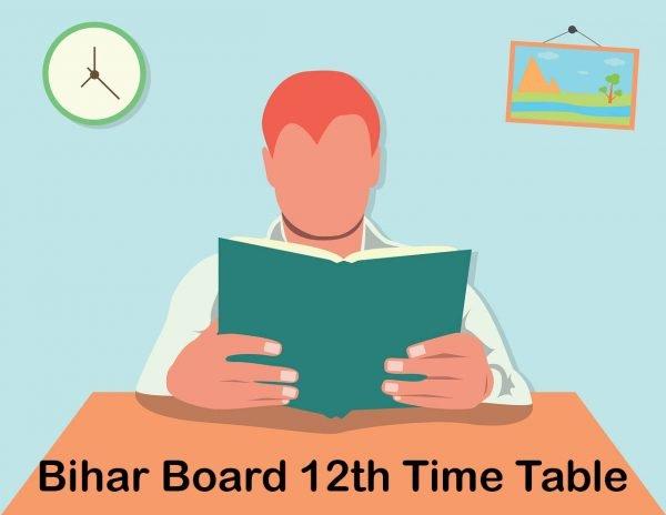 Bihar Board 12th Time Table