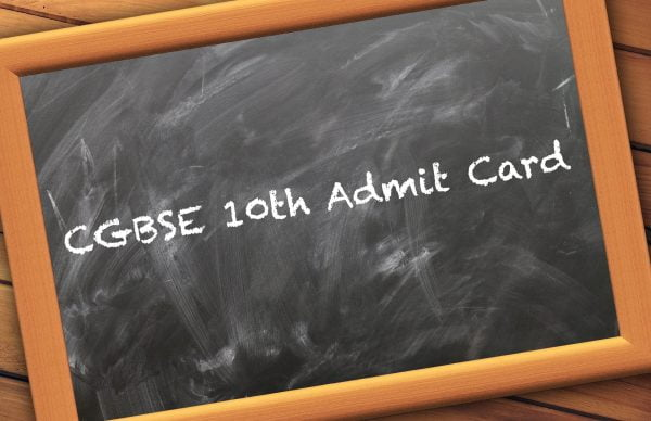 CGBSE 10th Admit Card