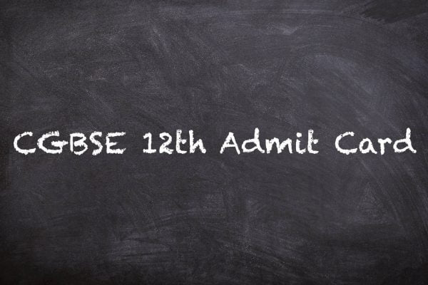 CGBSE 12th Admit Card