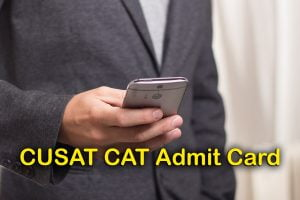 CUSAT CAT Admit Card