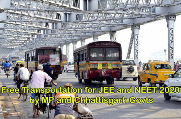 Free Transportation for JEE and NEET 2020