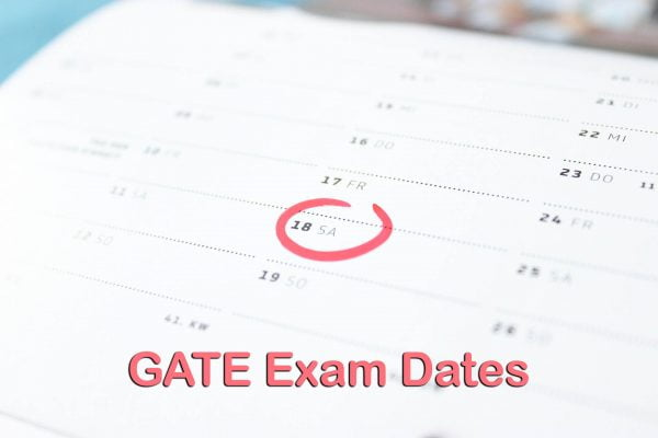 GATE Exam Dates