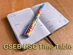 GSEB HSC Time Table 2020 : Gujarat Board HSC Time Table PDF Download