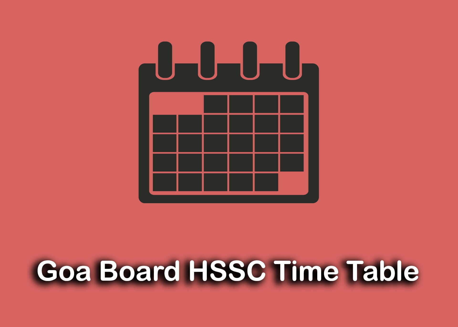Goa Board HSSC Time Table 2020 : Download GBSHSE 12th Time Table PDF