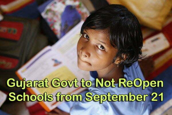 Gujarat Govt to Not ReOpen Schools from September 21