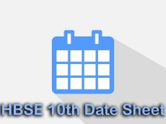 HBSE 10th Date Sheet 2020 : Download Haryana Board 10th Date Sheet