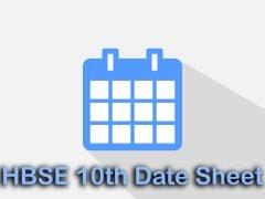 HBSE 10th Date Sheet 2020 : Download Haryana Board 10th Date Sheet
