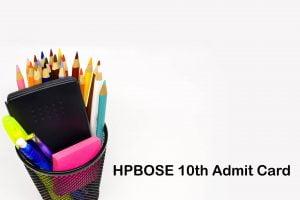 HPBOSE 10th Admit Card