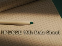 HPBOSE 10th Date Sheet 2020 : HP Board 10th Date Sheet 2020 PDF Download