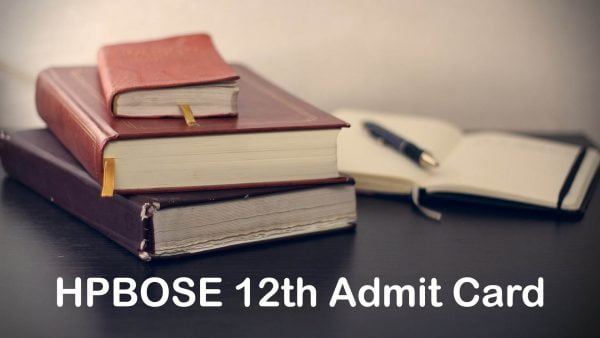 HPBOSE 12th Admit Card