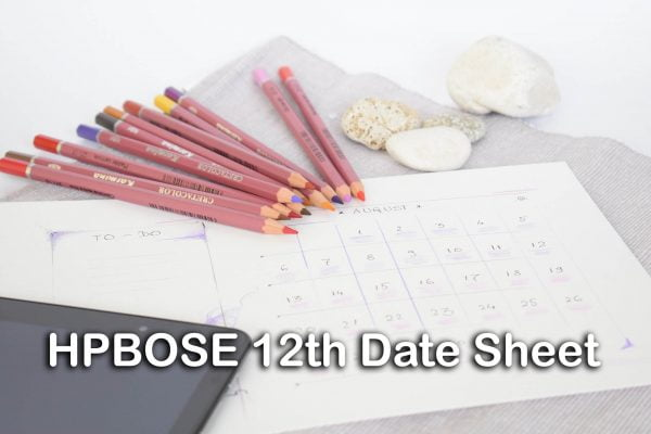 HPBOSE 12th Date Sheet