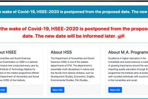 HSEE 2020 Postponed by IIT Madras Due to COVID-19