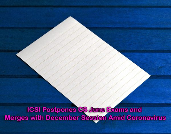 ICSI Merges CS June Exams with December