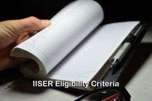 IISER Eligibility Criteria