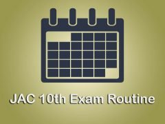 JAC 10th Exam Routine 2020 : Download Jharkhand 10th Time Table 2020 PDF