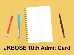 JKBOSE 10th Admit Card 2020 : Download JKBOSE 10th Class Roll No Slip 2020