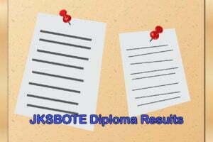 JKSBOTE Diploma Results