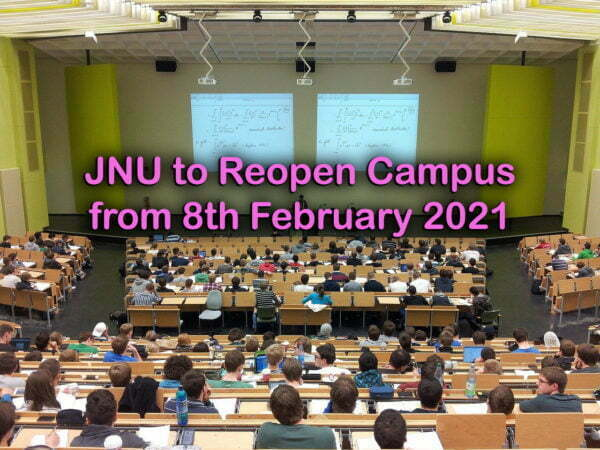 JNU to Reopen Campus from 8th February 2021