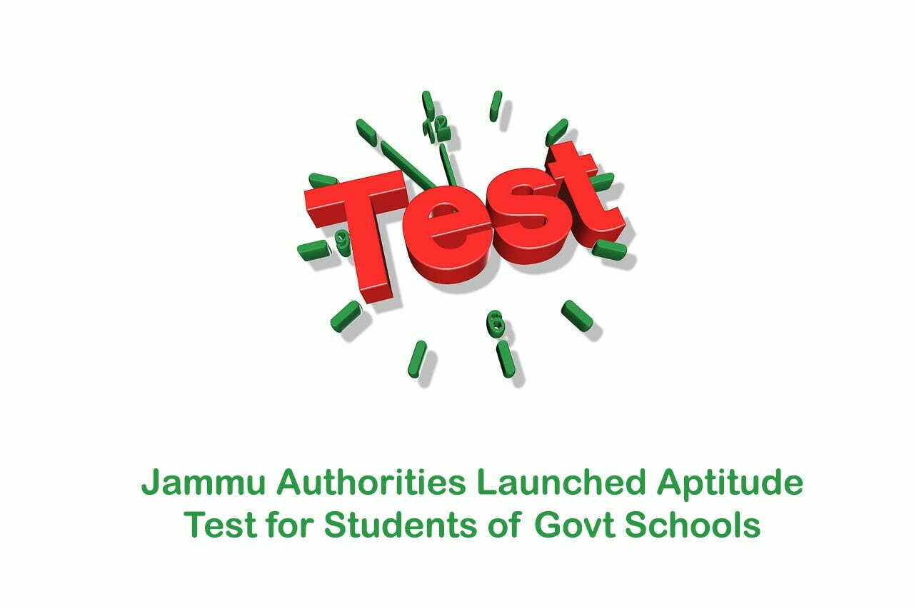 Jammu Authorities Launched Aptitude Test for Students of Govt Schools