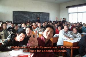 Jammu and Kashmir Announces 4% Reservation in Professional Colleges for Ladakh Students