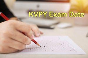 KVPY Exam Date