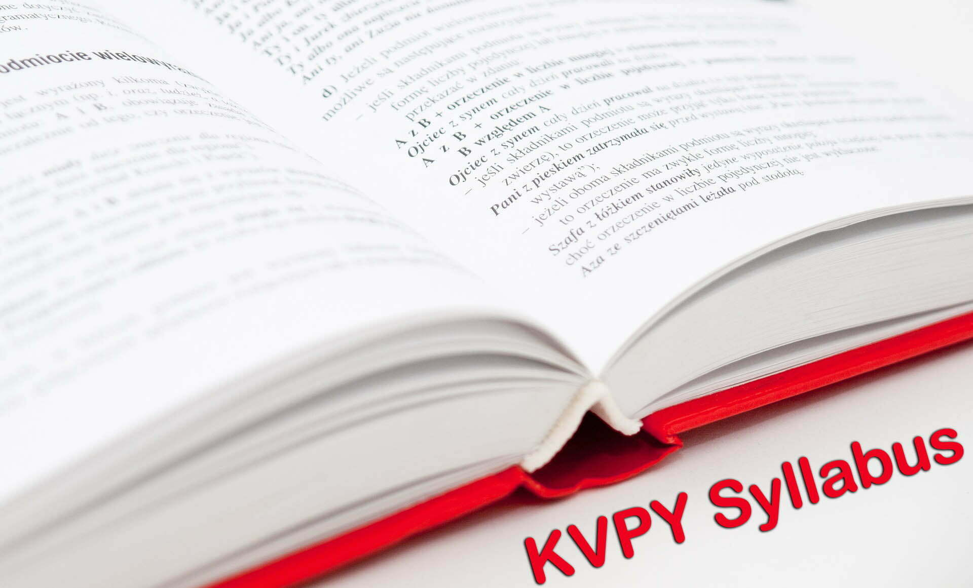 KVPY Syllabus 2019 For SA (Class 11), SB, SX Streams