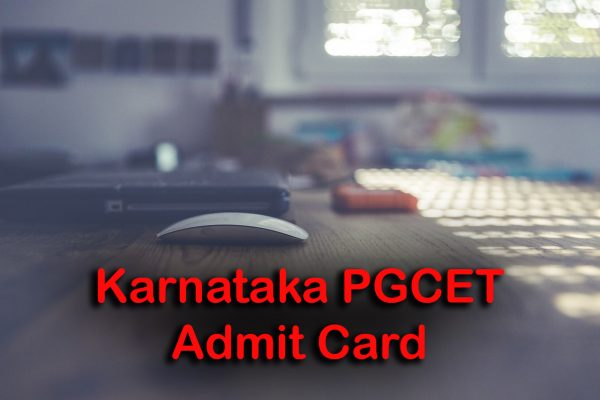 Karnataka PGCET Admit Card