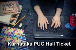 Karnataka PUC Hall Ticket