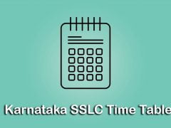 Karnataka SSLC Time Table 2020 : Download KSEEB SSLC Time Table 2020 PDF