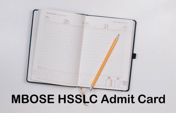 MBOSE HSSLC Admit Card