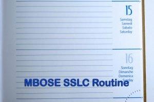 MBOSE SSLC Routine