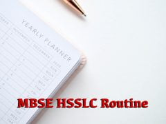 MBSE HSSLC Routine 2020 : Download Mizoram Board Class 12 Time Table 2020 PDF